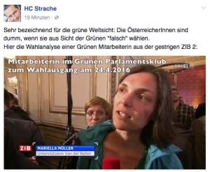 Quelle: Facebook-Seite von HC Strache