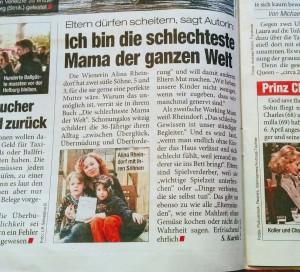 """Tageszeitung heute über """"Die schlechteste Mama der Welt"""" am 8.3.2017"""